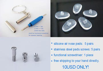 10mm screw on air active nose pads