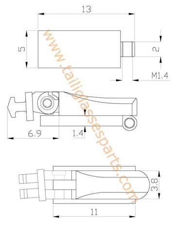 easily installed spring hinge for wooden sunglasses