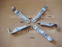 easily assmebling spring hinge for wood eyeglass