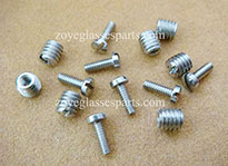stainless steel spacers nuts for eyeglass hinge